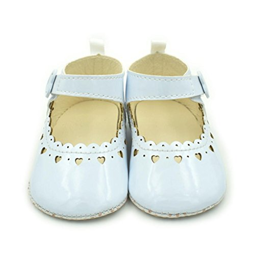 Pour 3-12 mois Bébé,Transer ® Les filles mignonnes douces de boucle de courroie de berceau chaussures anti-Slip Sneaker Blanc