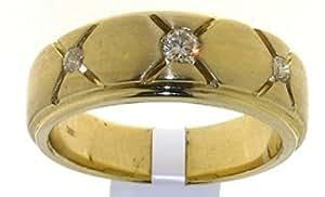 Attractive 9 ct Gold Gents Engagement Diamond Ring Brilliant Cut 0.25 Carat I-I1 - 10 Grams Size T 1/2