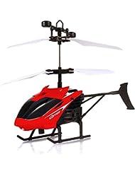 Hélicoptère Jouet Enfant, Manadlian Flying mini RC hélicoptères à induction infra-éclair jouets clignotants pour enfant