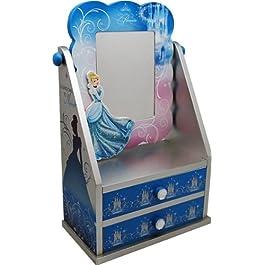 Disney 90001 – Cinderella Portatrucchi con Specchio in Legno, in Confezione Regalo, 19.5x11x30 cm