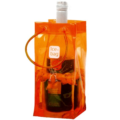 Ice bag Seau a Glace rafraichisseur Sac Porte Bouteille pliable - Orange