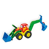 MochToys toy excavator and shovel loader 10006 in a 45 x 16 x 16.5 cm
