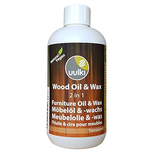 Uulki Holzpflege Wachs & Öl 2-in-1 für Möbel Innen (250 ml) Natürliches Möbelöl und Möbelwachs 2-in-1 Holzcreme - Vegan (farblos)