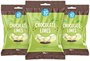 Marchio Amazon - Happy Belly - Caramelle all'aroma di lime con cuore di cioccolato fondente, 3x