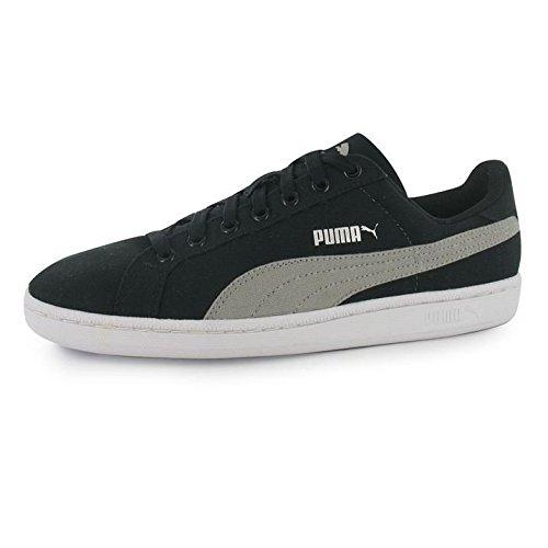 Puma Unisex-Erwachsene Smash Canvas Tennisschuhe Black (Black/Limestone Gray)