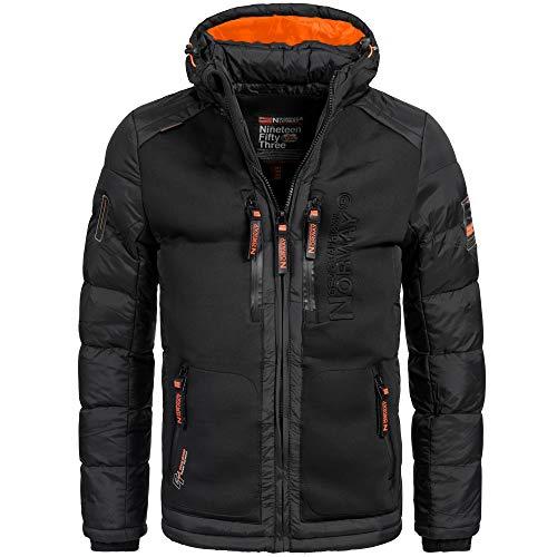 Geographical Norway BREVSTER Herren Winterjacke Jacke Outdoor Ski warm Gr. S-XXXL 2-Farben, Größe:S;Farbe:Schwarz