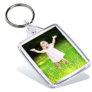 Adventa IP02 Anillo, Llaves, Pasaporte, Soporte, Llavero, Foto, Personalizado, Transparente, plástico, Color Crema