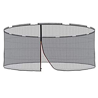 Ampel 24 Replacement Safety Net for Trampoline with Security Ring Ø 490 cm Replacement Mains Außenliegend | Extremely Tear-Resistant Garden Trampoline Replacement Net for 12 bars & UV Resistant