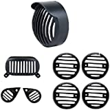 Auto Hub Metallic Bullet Grill Set For Royal Enfield Standard - Set of 8