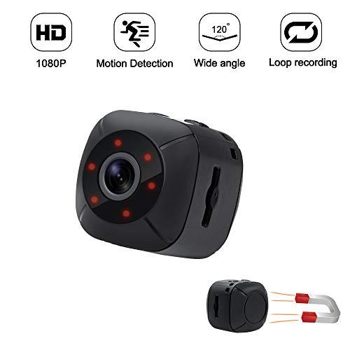 Mini Kamera Kleine Kamera TANGMI HD Bewegungskamera 1080P Tragbare Kamera Überwachungskamera mit Nachtsicht Sicherheitsüberwachung Kamera120 Grad