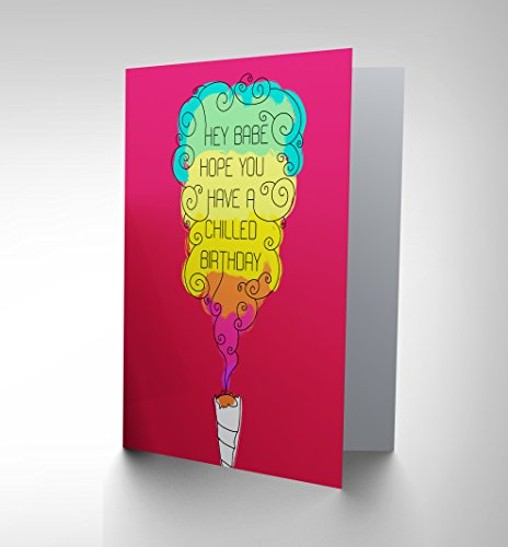 Preisvergleich Produktbild CARD BIRTHDAY HAPPY FUN PSYCHEDELIC WEED SPLIFF MARIJUANA GIFT CP2772 by QUALITY FINE ART PRINTS