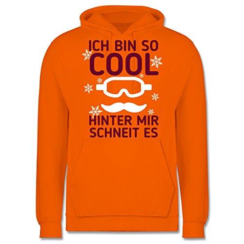 Wintersport - Ich bin so cool, hinter mit schneit es - Männer Premium Kapuzenpullover / Hoodie Orange