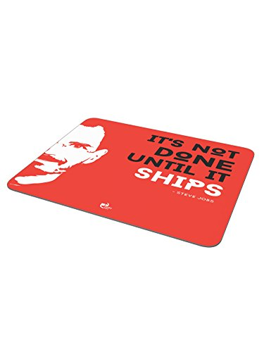 Thinkpot It's not done until it ships - Steve Jobs, Apple Mousepad  available at amazon for Rs.179