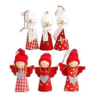 STOBOK 6 unids Navidad Colgando Decoraciones ángel muñeca árbol de Navidad Ventana Chimenea Colgando Decoraciones favores del Partido Suministros
