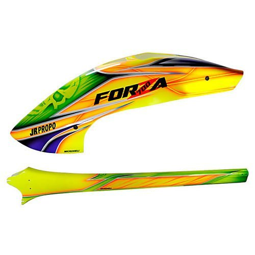 Fiberglass Yellow Skull Fuselage for JR Forza 700 by Microheli Co.