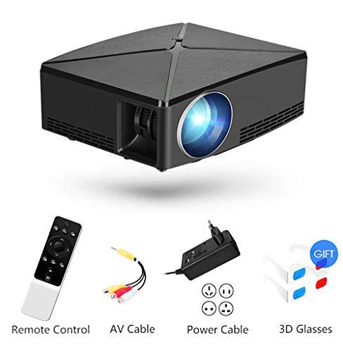 ZIHENGUO Proiettore, Mini videoproiettori Portatili con Home Theatre da 2200 Lumen, Supporta WiFi 720P, Hdmi, USB, Vga, AV, per Fire TV Stick, PS3 / PS4, Xbox,A