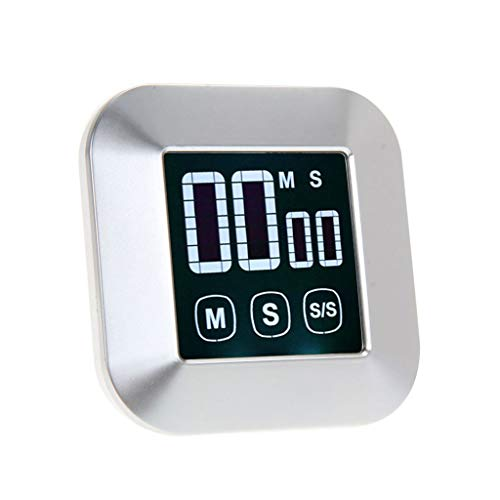 Küchentimer Touchscreen Digitaler Kochtimer Countdown-Timer mit großer Hintergrundbeleuchtung für LCD-Hintergrundbeleuchtung (Color : Silver) - Touch Screen Analog-tv