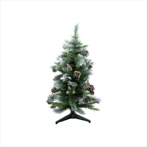 Darice 3'Frosted Glacier Künstlicher Weihnachtsbaum Tanne mit Zapfen-UNBELEUCHTET