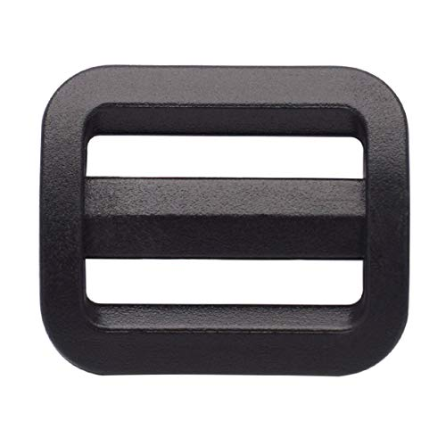 20 mm plastic Tri slip buckle adjustable cinch 3 / 4 'Triglides black 10 pack for backpack Bag
