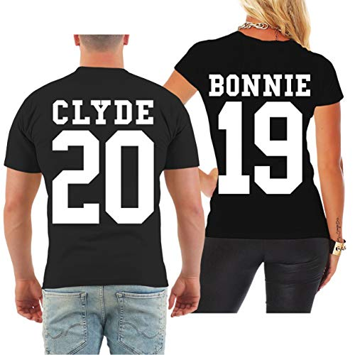 Spaß kostet Partnershirt Bonnie & Clyde 2019 (mit Rückendruck) Größe S - 8XL (Bonnie Und Clyde Outfits)