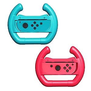 ThreeCat Joy-Con Controllers Lenkrad für Nintendo Switch, 2 Stück