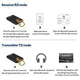 Trasmettitore Bluetooth 4.2, Trasmettitore e Ricevitore 2-in-1, aptX a Bassa Latenza, Audio Senza Fili da 3.5mm, per Cuffie / TV / Computer / IPod / IPhone, IPad, Tablet e Altro