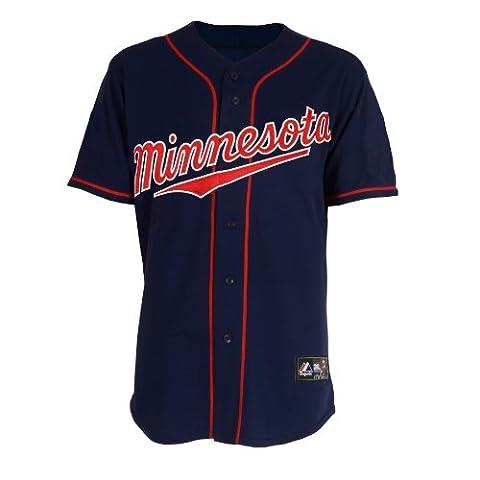 MLB Minnesota Twins Justin Morneau Baseball Jersey Spring 2012Herren, Herren, navy
