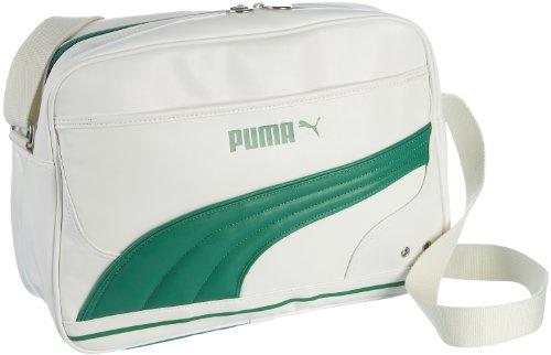 Puma Volcano Reporter Originals Messenger Bag Schultertasche Weiß/Grün (Bag Messenger Puma)