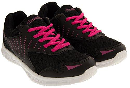 Annabelle Femmes Remise en Forme et en Cours Baskets de jogging Noir