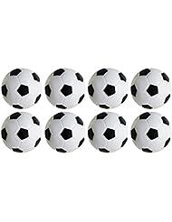 Juego de Foosball de Futbol de Mesa, Paquete de 8PCS (Negro y Blanco, 32mm / 1.26 IN) by Yeelan