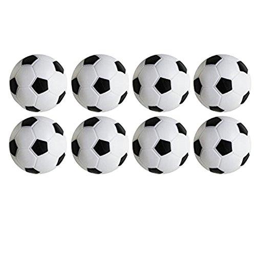 Juego de Foosball de Futbol de Mesa, Paquete de 8PCS (Negro y Blanco,