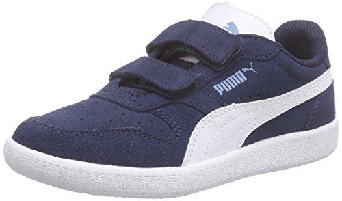 Puma Icra Trainer Sd V Inf Unisex-Kinder Low-Top Blau (peacoat-white 08)