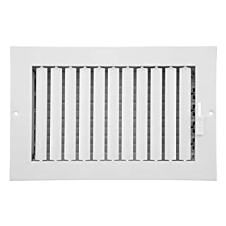 Accord Ventilation ABSWWHA104 Sidewall/Ceiling Register, White, 10