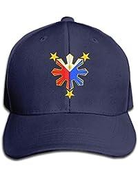 f2e4258f0f493 Sdltkhy Pinoy Filipino Flag Stars and Sun Snapback Sandwich Gorra Black  Baseball Gorra Hats Adjustable Peaked