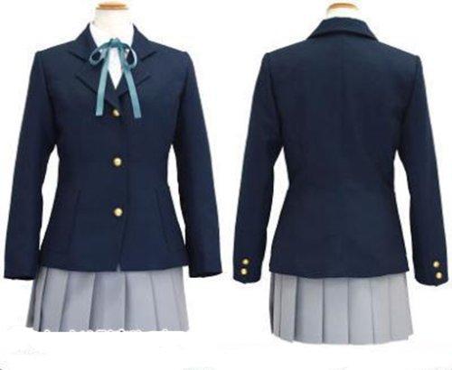 K-on Hirasawa Yui Uniform Cosplay Kostüme Brauch (Mailen Sie uns Ihre Größe),Größe XL:170-175 cm
