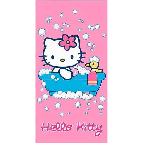 Hello Kitty - Toalla de Baño o de Playa Baño de Espuma - 76 x 152 cm