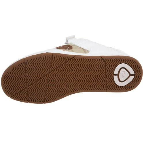 C1RCA - Scarpe sportive - Skateboard, Uomo Bianco (White/Brown/Plaid)