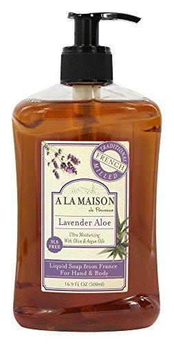 A La Maison Savon liquide français - Senteur de lavande et d'aloès - 500 ml