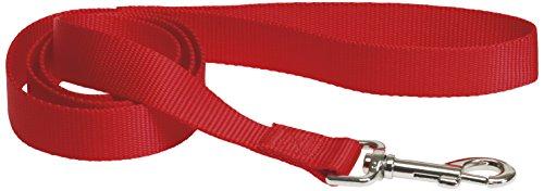 CHAPUIS SELLERIE SLA148 Guinzaglio per cani – Collare in nylon rosso – Larghezza 15 mm – Lunghezza 1,20 m – Misura S