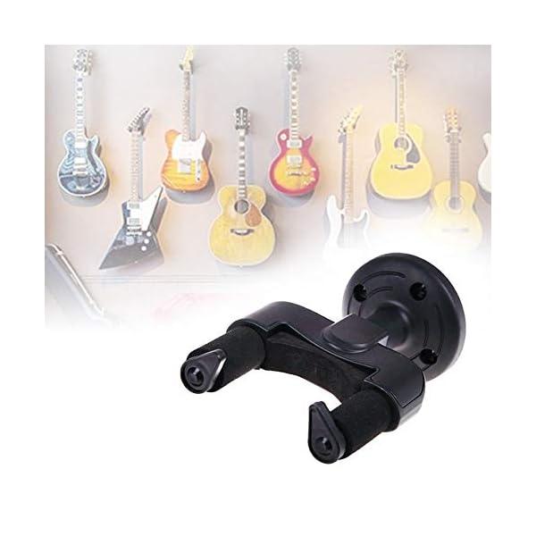 RoadRoma Soporte para Colgador de Guitarra eléctrica Soporte de Montaje en Pared para Guitarra de Todos los tamaños… 4