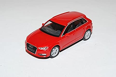 Audi A3 8V Sportback 5 Türer Rot Ab 2012 H0 1/87 Herpa Modell Auto mit individiuellem