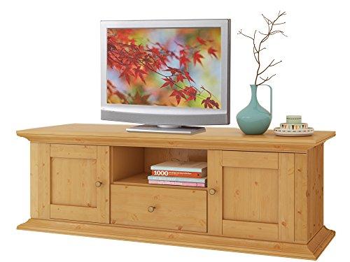 TV-Lowboard TIMO TV-Tisch Fernsehtisch 150x40x45 cm Kiefer massiv gebeizt geölt
