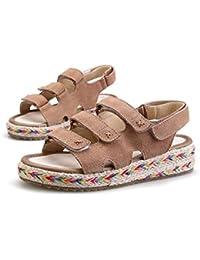 DANDANJIE Sandales Womens National Style Velcro Mode Étudiant Sandales Été Grande Taille Anti-slipcomfortable Chaussures (34-43)