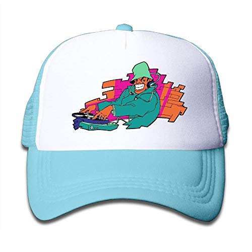 DJ Pug with Sun Glasses Boy Cool Hip Hop Snapback Caps Breathable Unconstructed Baseball Mesh Caps