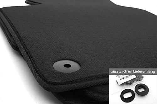 Fußmatten Golf 4 IV Velours Automatten Set 4-teilig, Schwarz inkl. Original Befestigung