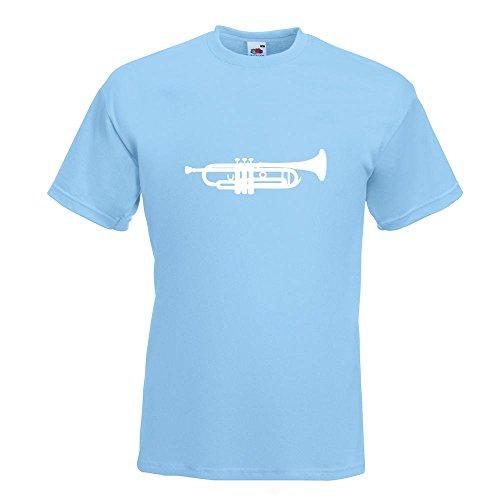 KIWISTAR - Trompete T-Shirt in 15 verschiedenen Farben - Herren Funshirt bedruckt Design Sprüche Spruch Motive Oberteil Baumwolle Print Größe S M L XL XXL Himmelblau