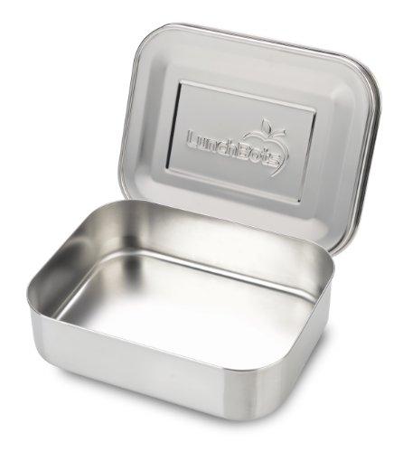 LunchBots Uno Edelstahl Nahrungsmittelbehälter - Offenes Design perfekt für Sandwiches, Wraps, Salate oder eine kleine Mahlzeit - Umweltfreundlich, Spülmaschinenfest und BPA frei - Komplett Aus Edelstahl (Kinder Für Aluminium-lunch-boxen)