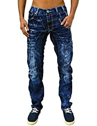 Kosmo lupo jeans jean pour homme coupe conique design funky denim pantalon