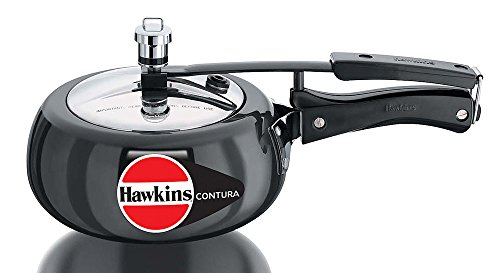 Hawkins CB20 Hard Anodised Pressure Cooker, 2-Liter, Contura Black  available at amazon for Rs.1499
