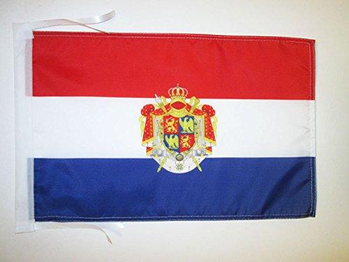 FLAGGE KÖNIGREICH HOLLAND 1806-1810 45x30cm mit kordel - NIEDERLANDE FAHNE 30 x 45 cm - flaggen AZ FLAG Top Qualität (Holland 30)